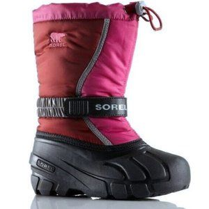 2/$60 Sorel Youth Flurry Pink/Red Snow Boots